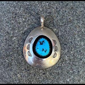 Teddy Goodluck Shadow Box Turquoise Pendant